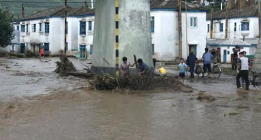 Наводнение в Северной Корее 22 августа 2015