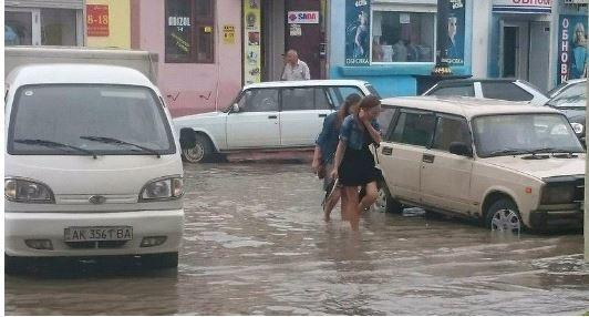 Наводнение в Керчи 25 июня 2015