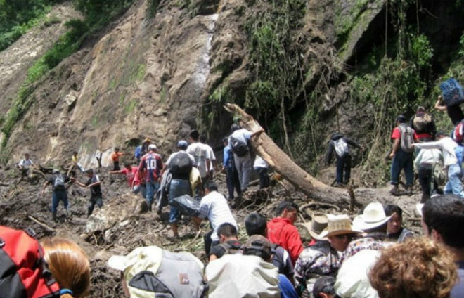 Оползень в Колумбии 27 января 2016