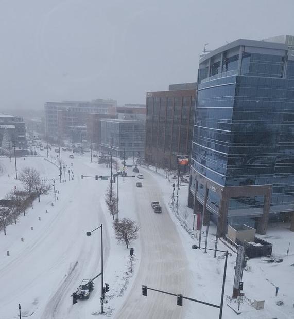 Снегопады в США 15 декабря 2015