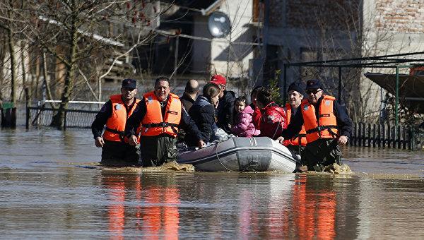 Наводнения в Сербии 06 марта 2016