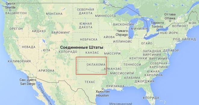 Землетрясения в Оклахоме – следствие формирования континентального разлома Северо-Американской литосферной плиты