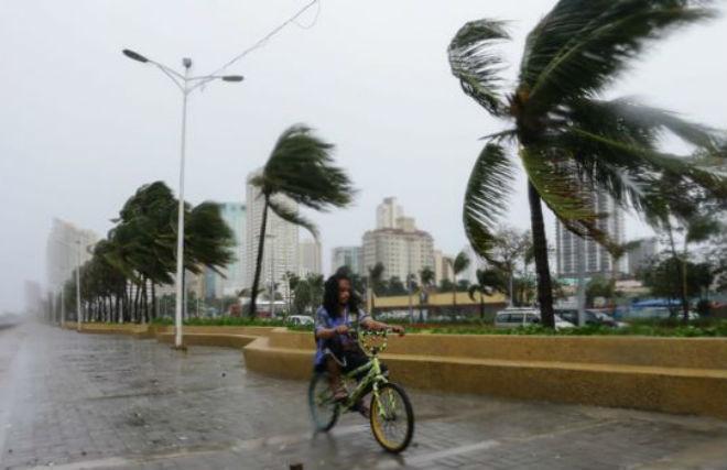 Тайфун на Филиппинах 18 октября 2015