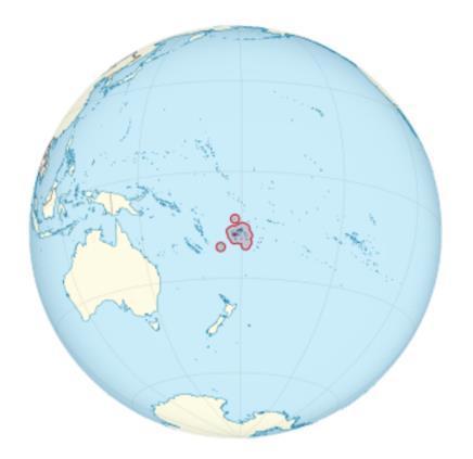 Землетрясение на острове Фиджи 14 января 2016
