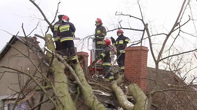 Буря в Польше 23 декабря 2015