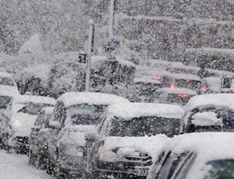 Снегопад в Грузии 03 января 2016