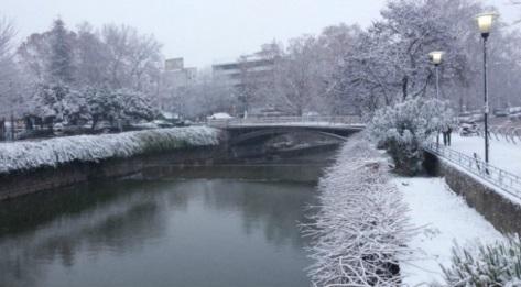 Снегопады в Греции 18-19 января 2016