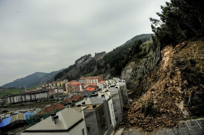 Оползень на севере Испании 11 марта 2016