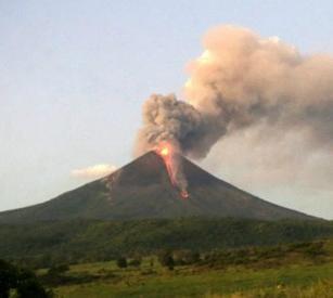 Извержение вулкана в Никарагуа 03 января 2016