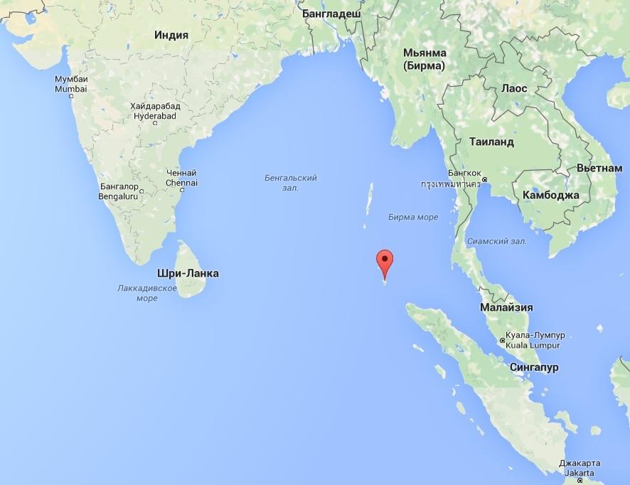 Землетрясение на Никобарских островах 14 ноября 2015