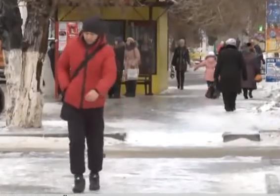 Гололёд в Казахстане 25 ноября 2015