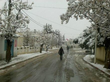 Снегопады в Тунисе 19 января 2016