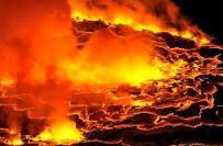 Извержение вулкана в Конго 27 марта 2016