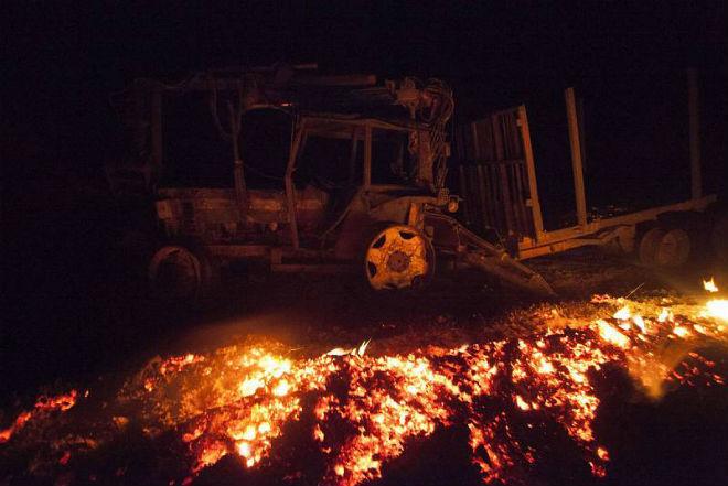 Пожары в Испании 19 декабря 2015