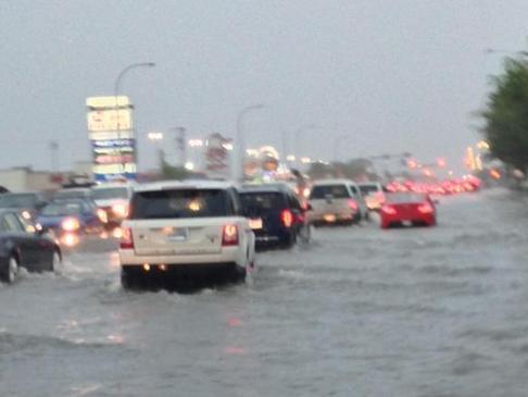 Наводнение в Канаде  04 сентября 2015
