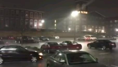 Буря с градом в США 14 марта 2016