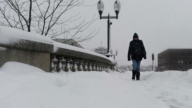Снегопад в США 21 ноября 2015