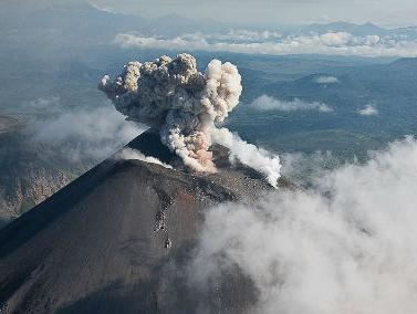 Извержение вулкана на Камчатке 28 ноября 2015