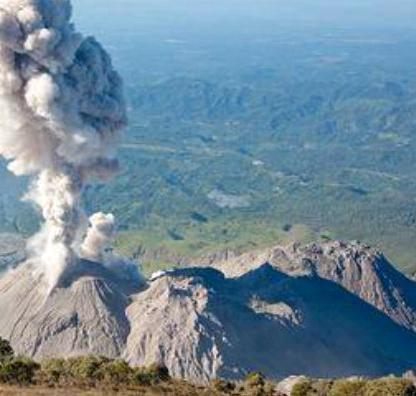 Извержение вулкана в Гватемале 24 августа 2015
