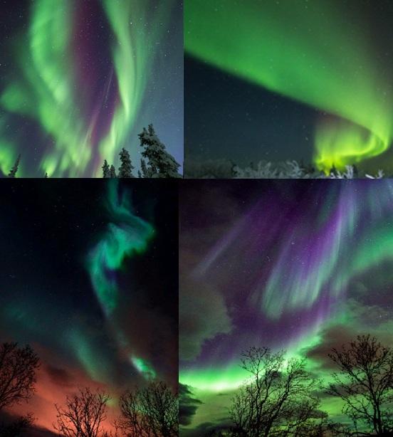 Северные сияния 19 ноября 2015