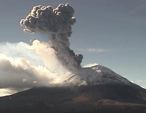 Извержение вулкана в Мексике 29 октября 2015