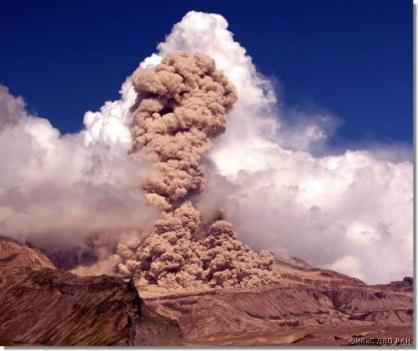 Извержение вулкана на Камчатке 21 декабря 2015